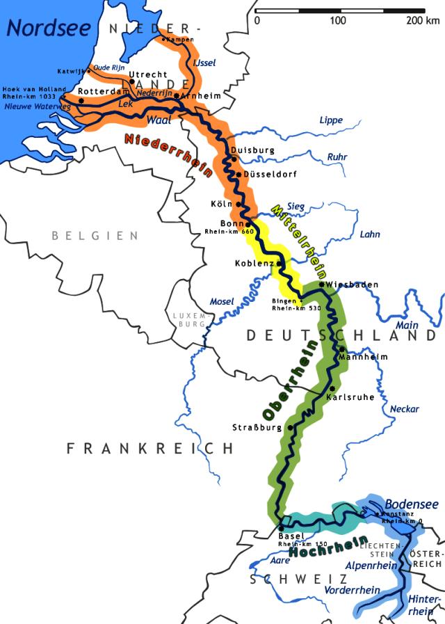 Recorrido del río Rín (click para agrandar)