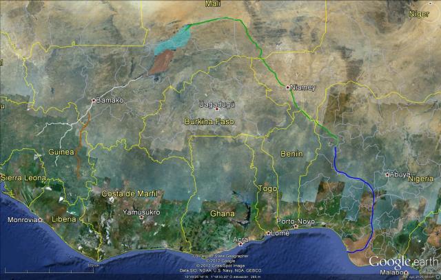 El río Níger y sus partes. Vamos a desmenuzarlos punto a punto (click para agrandar)