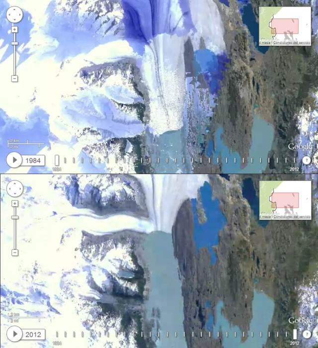 Upsala glacier change