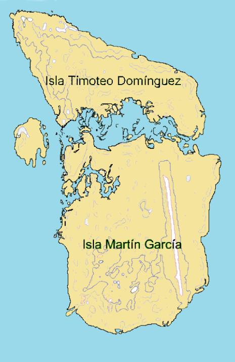 Ambas islas en el año 1995 (Click para agrandar)