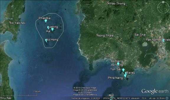 Ubicación de las islas Hong