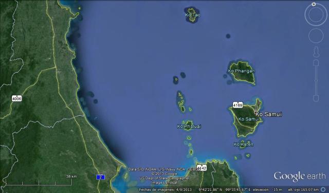 Los tres principales destinos de la zona este (Click para agrandar)