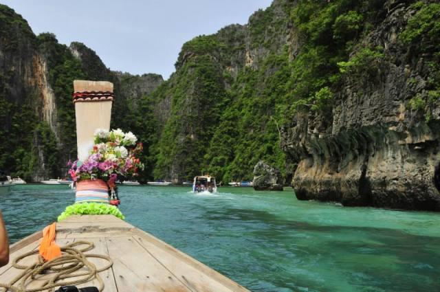 La laguna interior de Phi Phi Lee