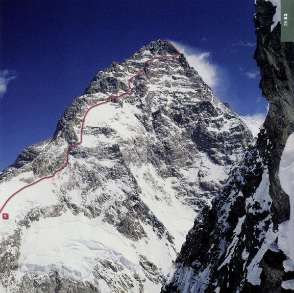 K2 First Ascent West Face Route 1981 Japan