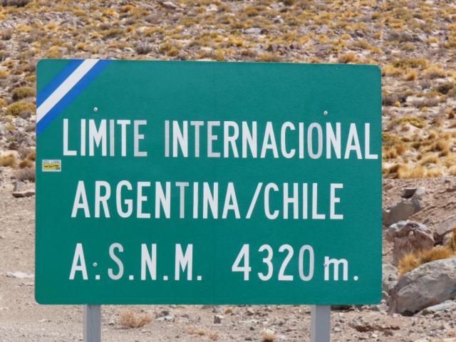 El límite entre Argentina y Chile