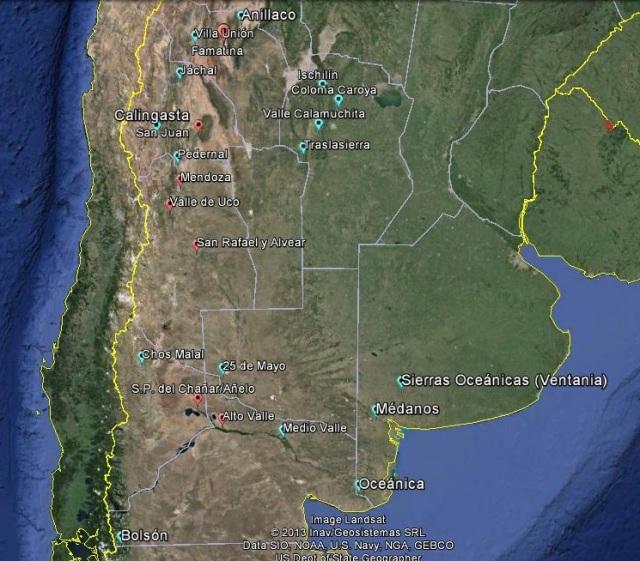 Argentinean wines regions