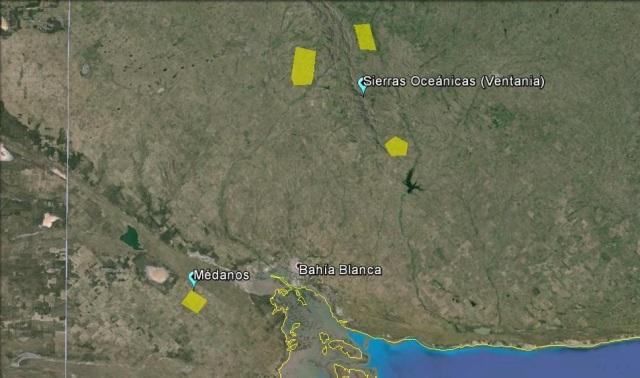 Nuevas regiones vitivinícolas en BsAs. Áreas NO a escala (Click para agrandar)