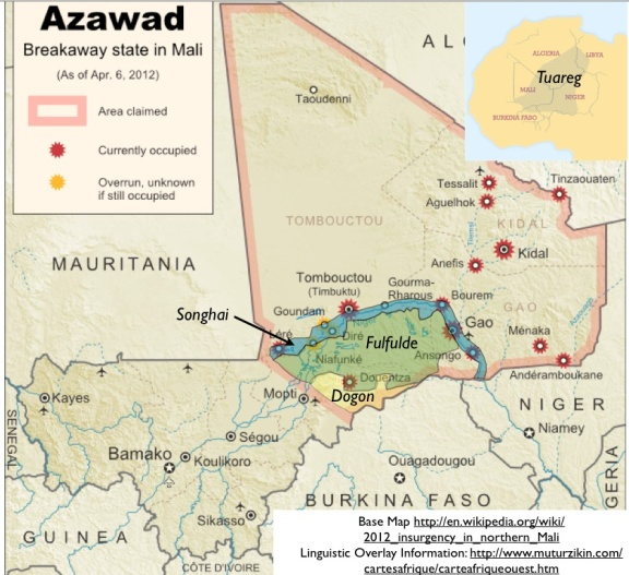 Azawad-languages-map