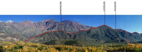 El cerro Castaño desde la localidad de El Salto. Tomada por Pablo Gonzalez