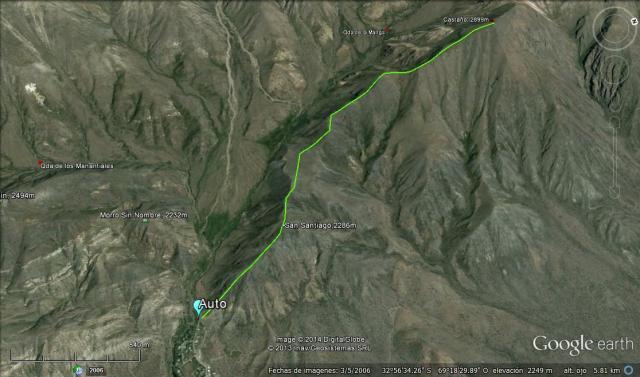 Ruta completa al cerro Castaño (Click para agrandar)