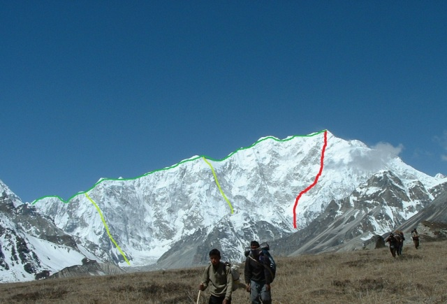 Kangchenjunga east ridge