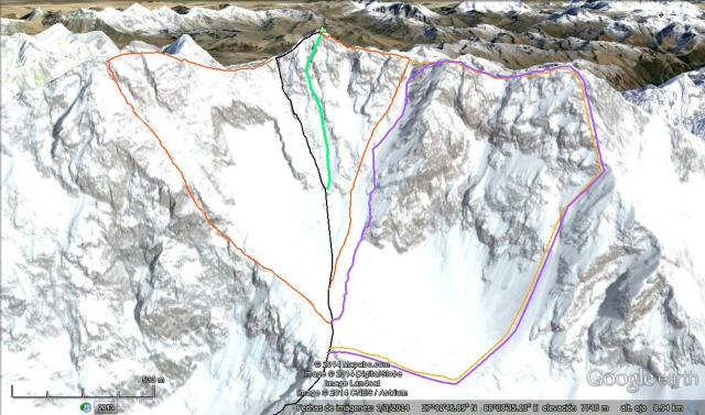 Kangchenjunga Southwest face routes