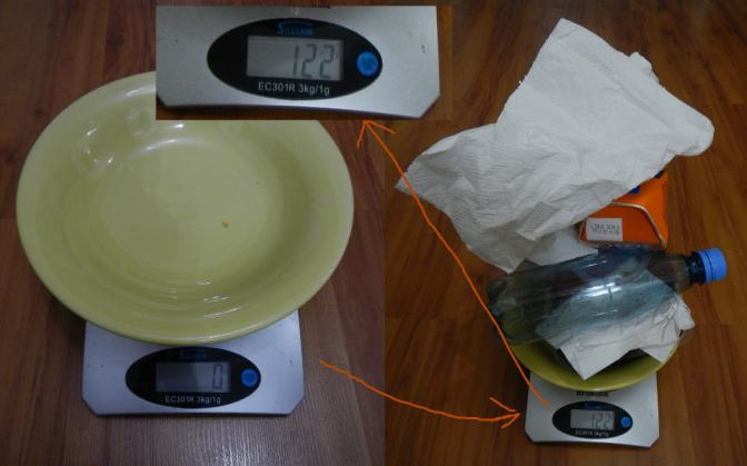 122 gramos de basura (bah, 120 gramos)
