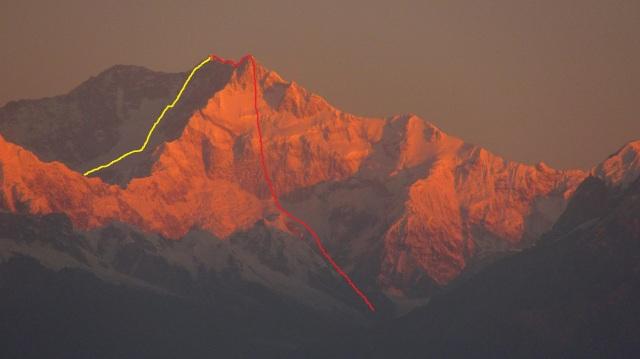 SE face Kangchenjunga 3