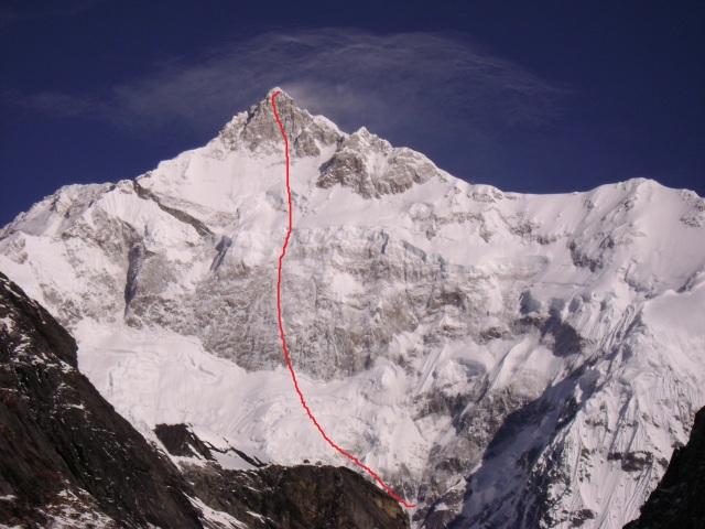SE face Kangchenjunga