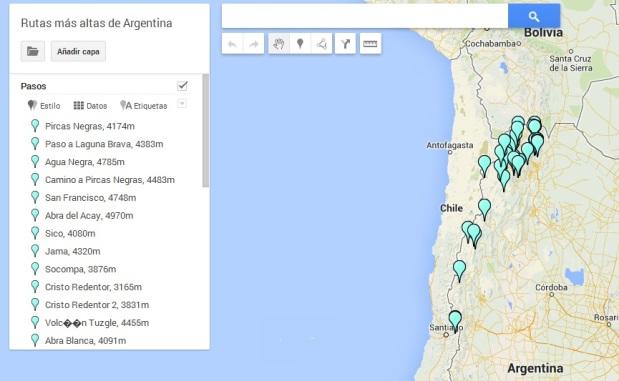 Rustas mas altas de Argentina
