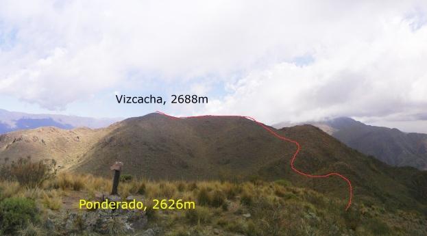 Camino desde el Ponderado al Vizcacha (Click para agrandar)