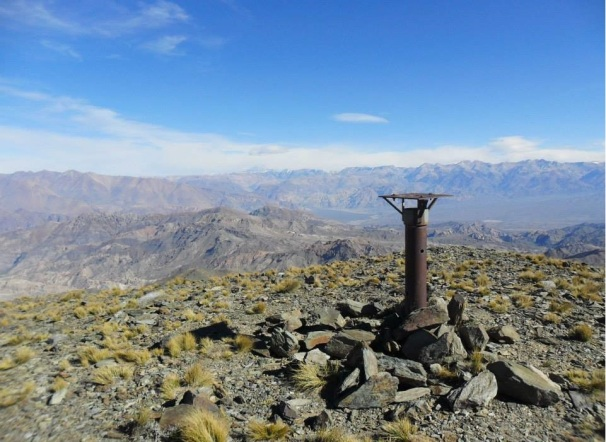 Con ustedes, el cerro más alto de la precordillera de Mendoza, el Bonilla