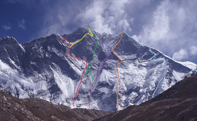Lhotse South face routes