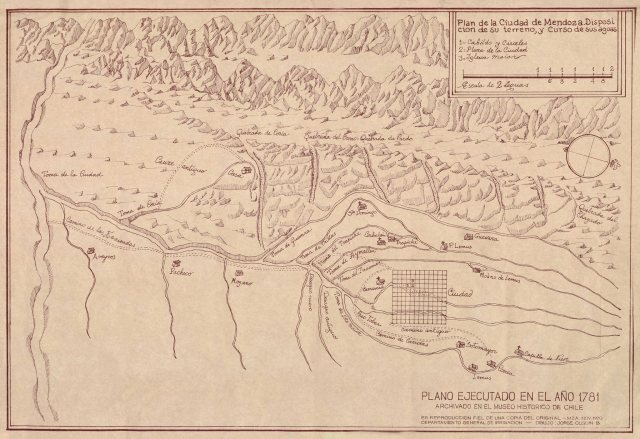 Mapa Mendoza 1781 AGN