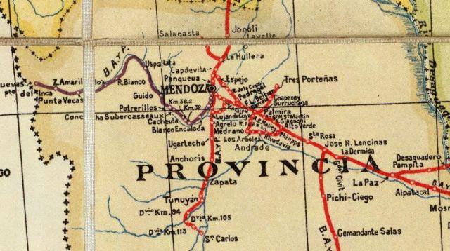 Mapa Mendoza 1925