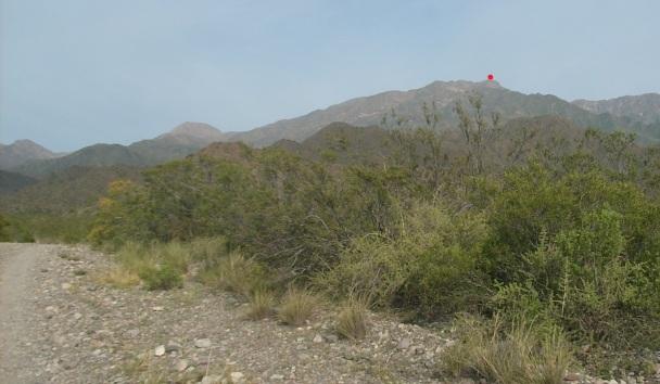 Vista del cerro mientras nos acercamos al puesto (click para agrandar)