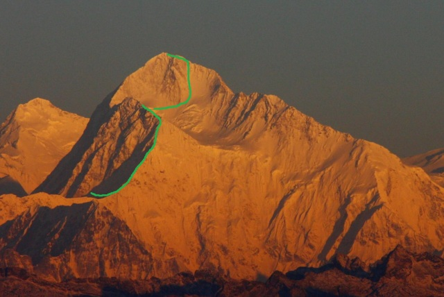 1982 Makalu east face
