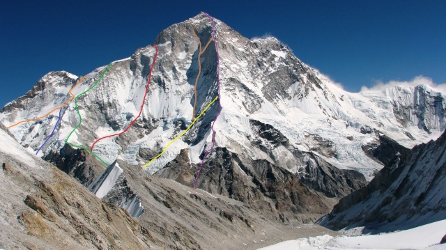 Makalu 1997 west face route