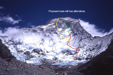 Makalu west face
