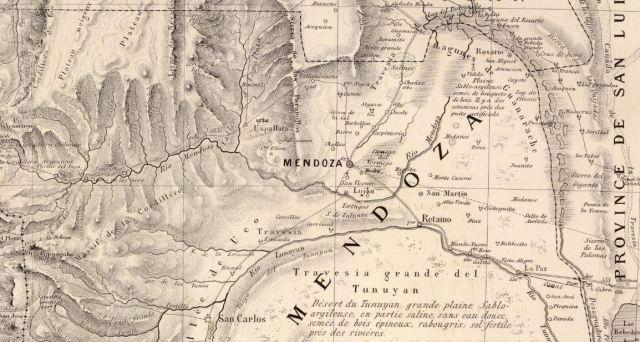 Mapa Mendoza 1873
