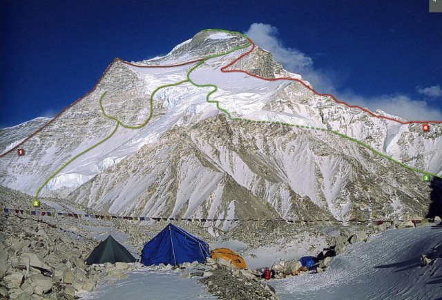 8000 Metri Di Vita 8000 Metres To Live For - Cho Oyu West Face, Cho Oyu Northwest Face With Climbing Routes(1)