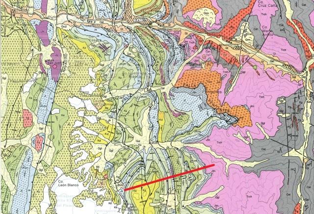 Mapa geológico Aconcagua