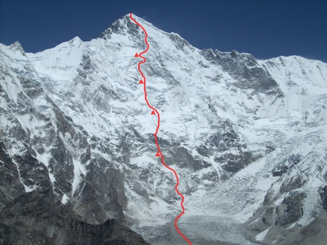Urubko South face route Cho Oyu