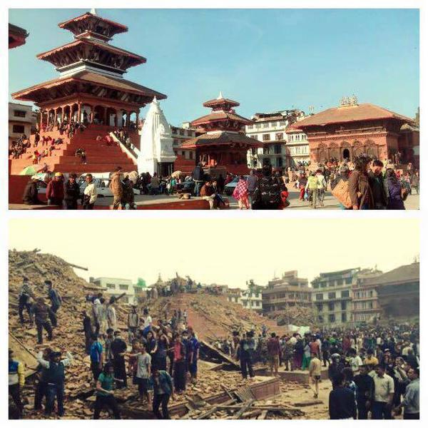 Durbar Square, patrimonio mundial de la humanidad y uno de esos lugares mágicos de Khatmandú, ahora en ruinas