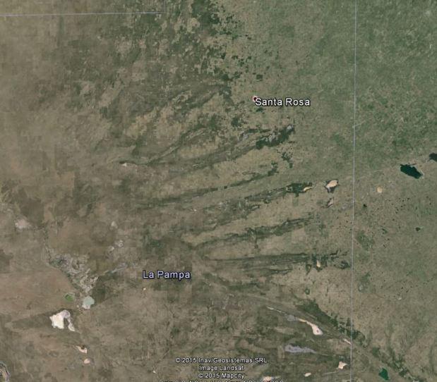 Otra imagen, ahora desde Google Earth