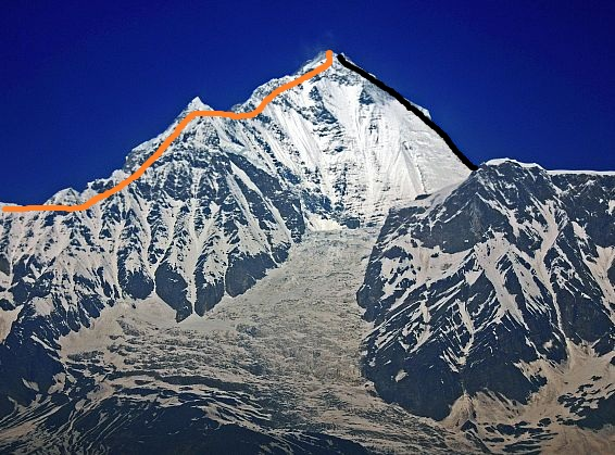 Dhaulagiri East Face