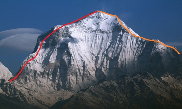 dhaulagiri SW ridge