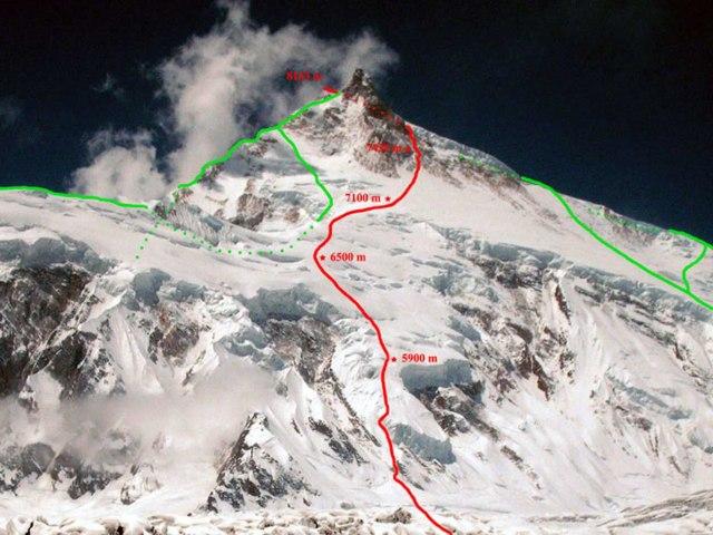 Manaslu Urubko route